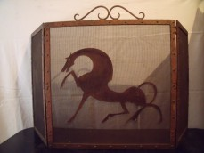William Hunt Diederich attributed fire screen