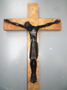 Lambert-Rucki Bronze Christ on a cross