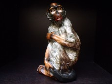 Ceramic figure of a monkey, Prag