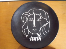 Cubist ceramic face plate after  Picasso