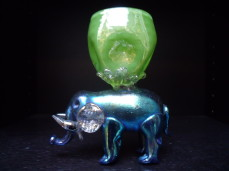 Loetz  glass elephant vase
