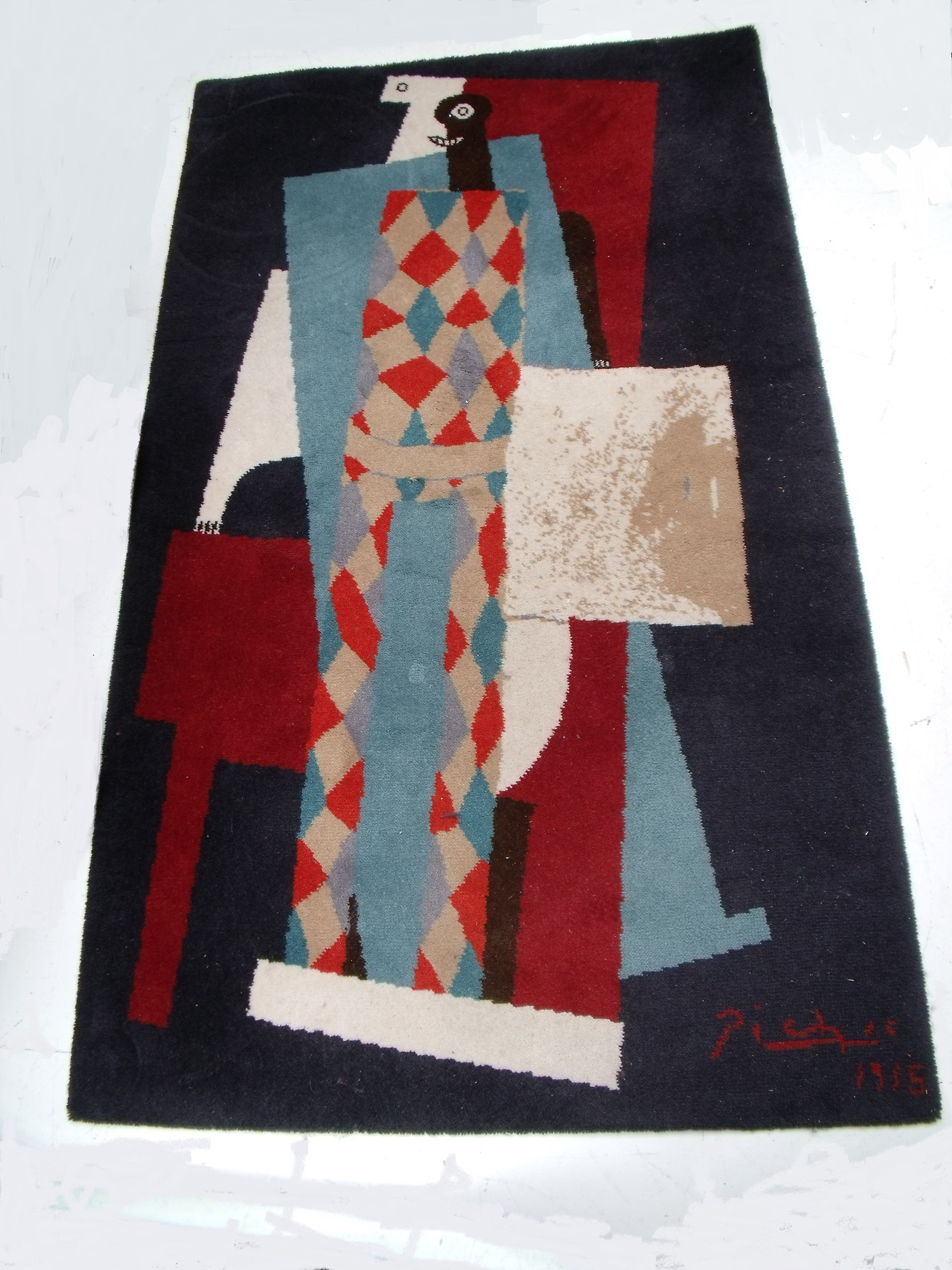 Picasso Rug Arlequin Angry Agent