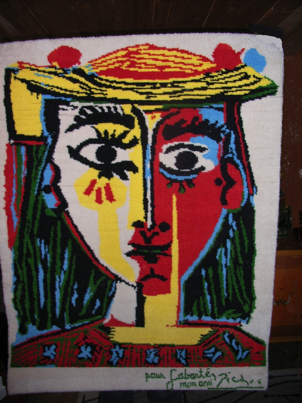 Picasso Rug Femme Au Chapeau Angry Agent