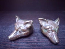 Wiener bronze fox heads