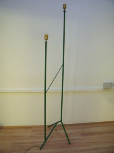 Tubular standard lamp after a design by Mategot
