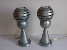 Modernist aluminium table lamps