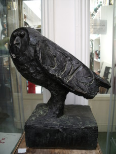 Plaster figure of an owl after Picasso