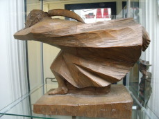 "Ernst Barlach Wood sculpture ""The Avenger"""