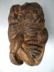 German expressionist wood sculpture