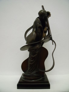 Arman bronze sculpture