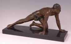 Rochard male athlete sculpture