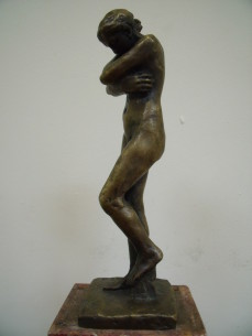 "Rodin, ""Eve"" bronze sculpture"