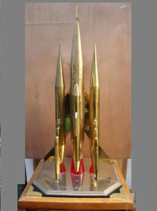 Russian Rocket Ship sculptural model