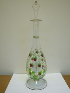 Theresienthal  enamelled glass decanter