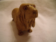 Hand carved, Jasper Dog