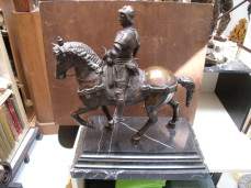 Bronze knight on a horse