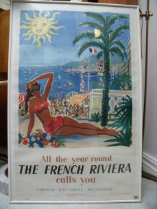 The French Riviera, Railroad poster