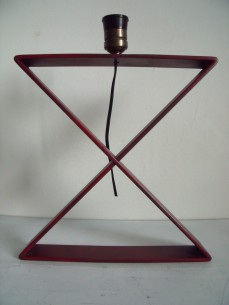 """X"" table lamp after a design by Jean Michel Frank"
