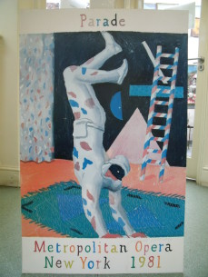 David Hockney poster, signed, Metropolitan Opera