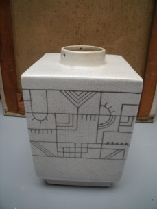Belgium ceramic modernist lamp base