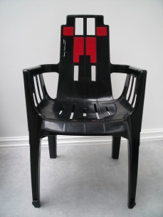 A 1970's desinger chair, signed