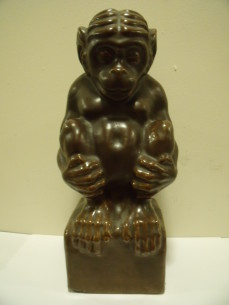 Ceramic sculpture of a Monkey