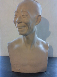 Chih-Pan ceramic sculpture China man