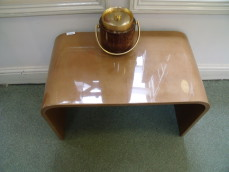 Aldo Tura lacquered goatskin side table