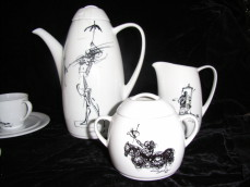 Salvador Dali porcelain coffee set