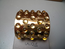 "Lalique, silver gilt bangle ""Mossi"""