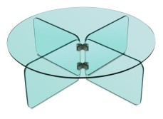 Glass coffee table, style of Fontana Arte