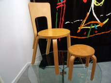 Alvar Alto chair and stool