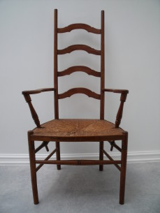Art and Crafts ladder back chair.