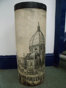 Umbrella stand, style of Fornasetti
