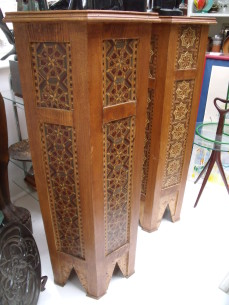 Inlaid stands in the moorish style